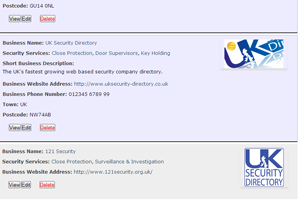 UK Security Directory Listings