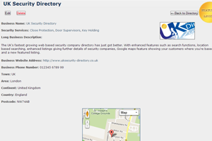 UK Security Directory Featured Listing