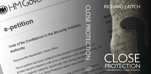 Vote of No Confidence - Security Industry Authority