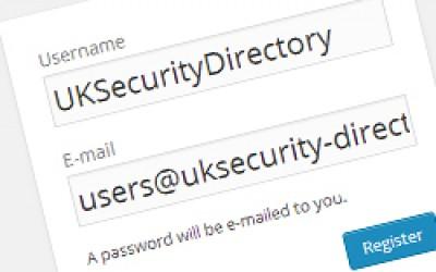 UK Security Directory User Accounts