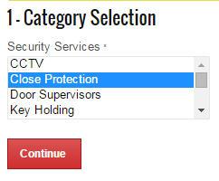 Selecting your security services