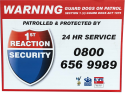 1st Reaction Security business signs
